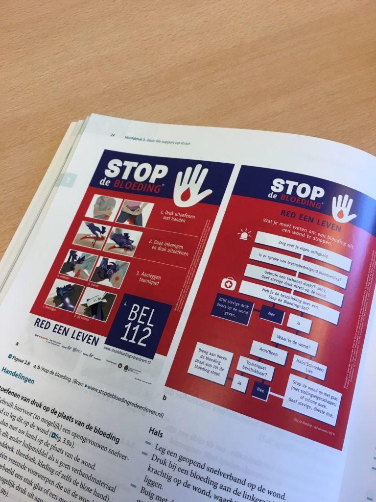 Stop de bloeding in twee leerboeken