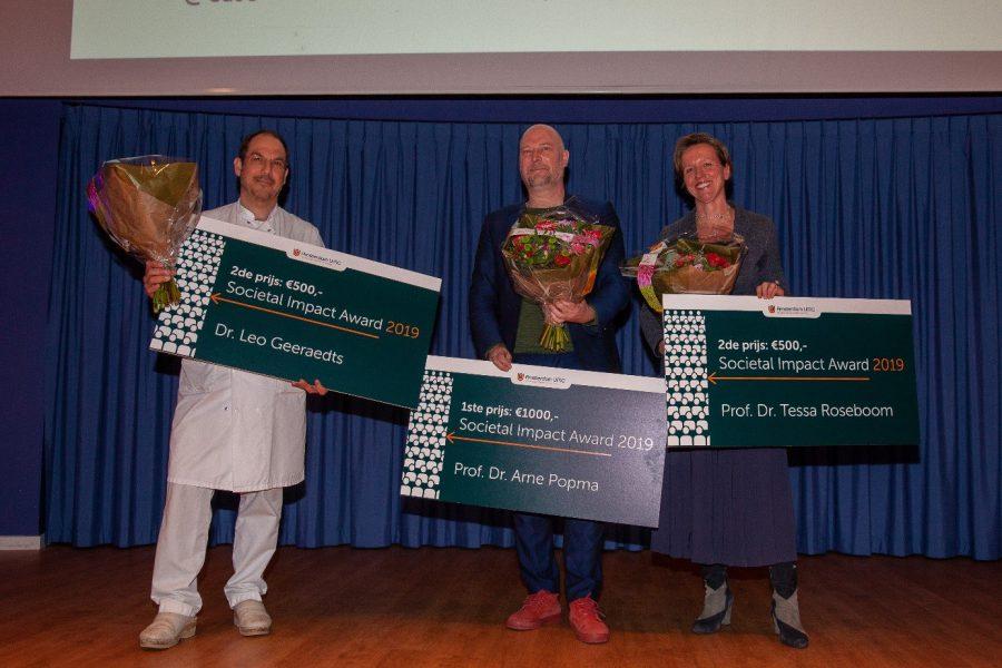 Tweede prijs Societal Impact Award 2019 Amsterdam UMC